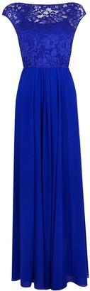Wallis **Jolie Moi Blue Lace Maxi Dress