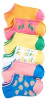 Girl's Tucker + Tate Summer Fruit Assorted 6-Pack Socks