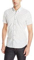 Stone Rose Men's Pineapple Print Short Sleeve Button Down Shirt