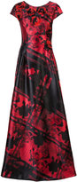 Carolina Herrera rose patterned gown with 3D embellishments