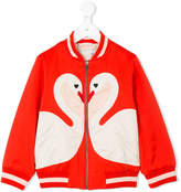 Stella McCartney Willow swan patch bomber jacket