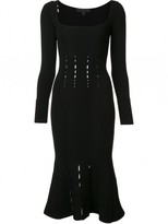 Cushnie et Ochs Square Neck Fitted Dress