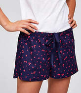 LOFT Heart Flannel Pajama Shorts