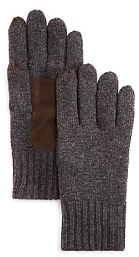 The Men's Store at Bloomingdale's Suede Patch Tech Gloves - 100% Exclusive