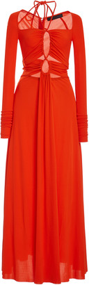 Proenza Schouler Drawstring Jersey Maxi Dress