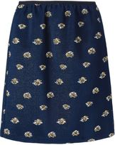 Odeeh contrasting jacquard effect skirt