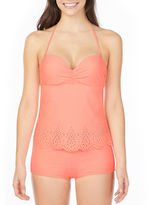 Arizona Lasercut Bandeau Swimsuit Top-Juniors