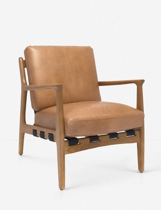 Lulu & Georgia Kenneth Leather Accent Chair, Brown