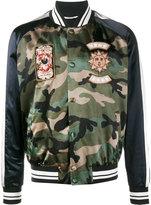 Valentino camouflage bomber jacket - men - Cotton/Viscose - 50