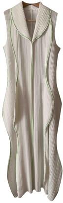 Pleats Please Beige Polyester Dresses