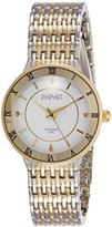 August Steiner Women's AS8178TTG Silver and Yellow Gold Quartz Watch with White Dial and Silver and Yellow Gold Bracelet