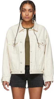 A Gold E Agolde AGOLDE Off-White Denim Charli Oversized Jacket
