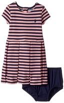 Ralph Lauren Striped Pleated Cotton Dress Girl's Dress