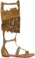 Ash fringed strappy 'Margot' gladiator sandals - women - Leather/Suede - 39