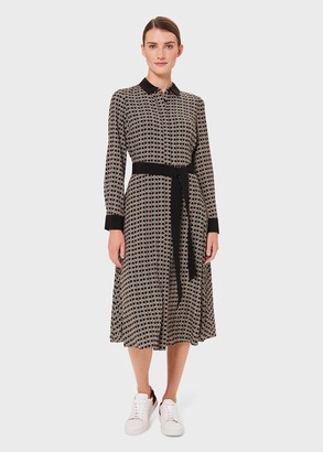 Hobbs Alison Printed Fit And Flare Dress
