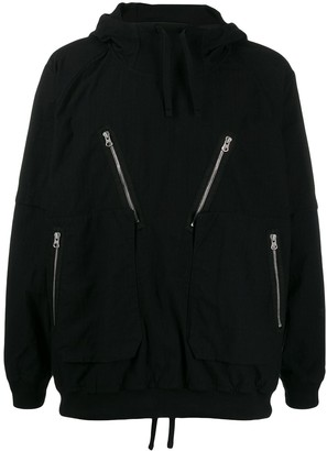 Stone Island Shadow Project Hooded Zip-Detailed Jacket