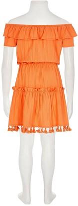 River Island Girls Textured Bardot Dress -Orange