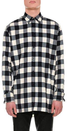 Versace Buffalo Check Flannel Shirt