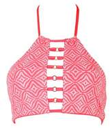 Beach Bunny Coral Reversible Bra Swimsuit Coral Reef.
