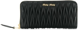Miu Miu Matelasse Zip-Around Wallet