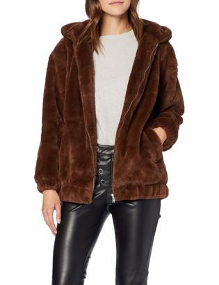 New Look Women's OP AW19 Frankie Fur Hooded BOM S52 Bomber Jacket