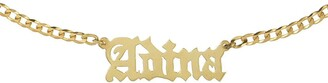 Adina's Jewels Personalized Gothic Nameplate Choker