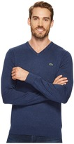Lacoste V-Neck Cotton Jersey Sweater Men's Sweater