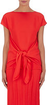 Nina Ricci Women's Draped-Back Top-RED