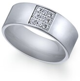 Thumbnail for your product : Sutton by Rhona Sutton Men's Stainless Steel Cubic Zirconia Ring