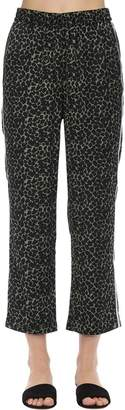 Love Stories Weekend Leopard Print Satin Pajama Pants