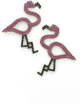 Elizabeth Cole Flying Flamingo Earrings