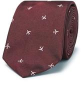 Paul Smith 6.5cm Embroidered Silk-faille Tie - Burgundy