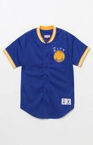 Mitchell & Ness Golden State Warriors NBA Button Up Jersey