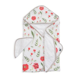 Little Unicorn Cotton Hooded Towel & Wash Cloth - Summer Poppy Set