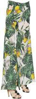 Printed Silk Crepe De Chine Pants