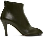 Maison Margiela SSENSE Exclusive Green Stiletto Tabi Boots