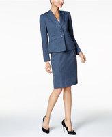 Le Suit Melange Twill Two-Button Skirt Suit