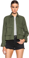 The Great Swingy Army Jacket in Green.