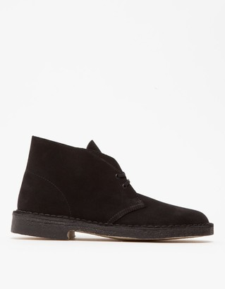 Clarks Men's Desert Boot in Black Suede, Size 8 | Leather