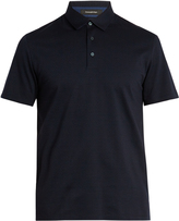 Ermenegildo Zegna Bi-colour cotton polo shirt