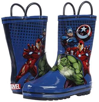 Favorite Characters Avengers Rain Boots AVS505 (Toddler/Little Kid) (Blue) Boy's Shoes