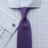 Charles Tyrwhitt Slim Fit City Gingham Spread Lilac Cotton Dress Casual Shirt French Cuff Size 14.5/33