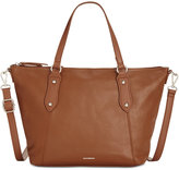 Giani Bernini Pebble Leather Zip Satchel, Only at Macy's