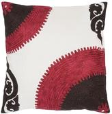 "18"" x 18"" Bold Color Pillow - Pink/Brown/White"