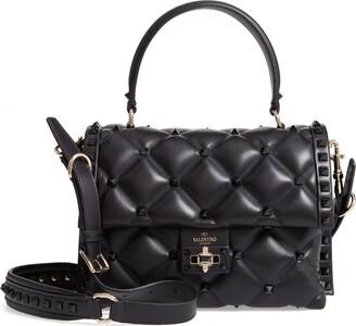 Valentino Garavani Candystud Leather Top Handle Bag