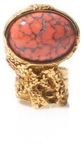 Yves Saint Laurent Arty oval ring