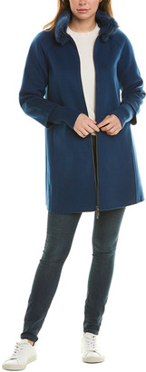 Forte Cashmere A-Line Wool & Cashmere-Blend Coat