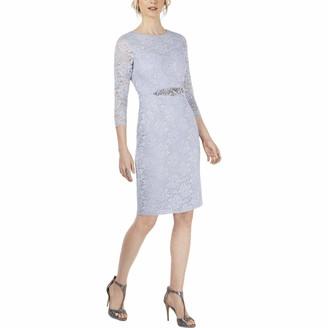 Jessica Howard JessicaHoward Women's 3/4 Sleeve Sheath Dress with Beaded Inset Waistband