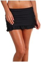 Athena Heavenly Skirted Ruched and Ruffled Pant (Black) - Apparel