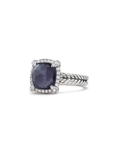 David Yurman 9mm Châtelaine Ring in Amethyst Doublet with Diamonds